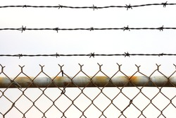 rustic chain link fence