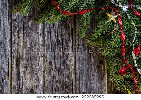 Rustic Christmas background #229235995