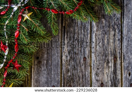 Rustic Christmas background #229236028