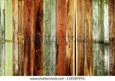 Rustic colored barn-wood