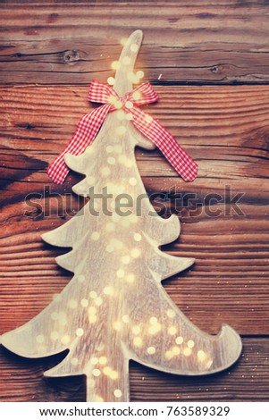 Country Christmas Background.Rustic Country Background Wood With Candles And