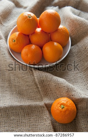 Rustic decoration for oranges group