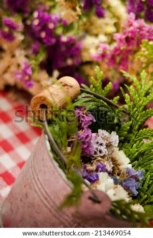 rustic flowers decor