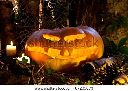 rustic halloween decoration