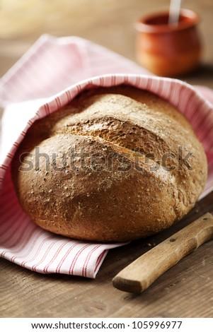 rustic,homemade,fresh wholegrain bread