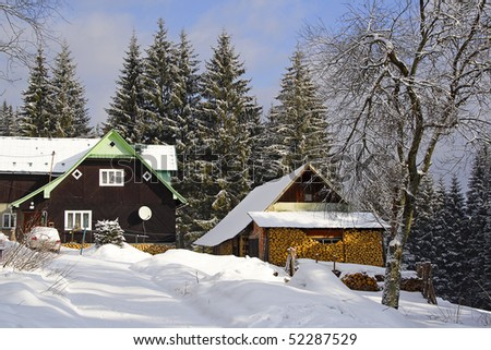 Rustic house in Beskydy mountains. Czech republic, Europe