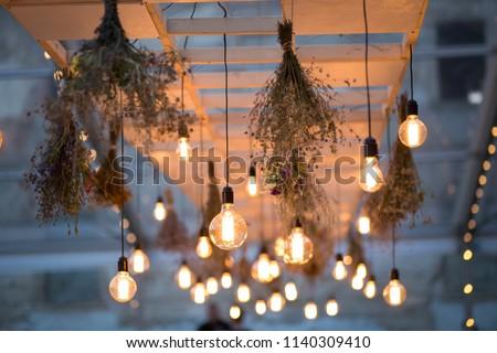Rustic light bulb garden lights  #1140309410