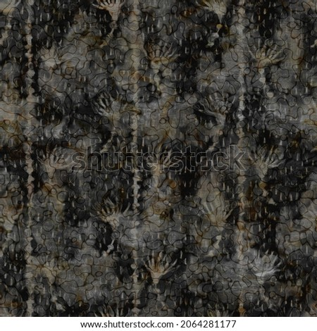 Rustic mottled charcoal grey french linen woven texture background. Worn neutral old vintage cloth printed fabric textile. Distressed all over print . Irregular uneven stained rough grunge effect.