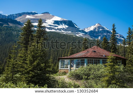 Rustic mountain house, Banff National Park, Canada