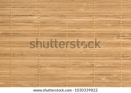 Rustic Natural Light Brown Bamboo Place Mat Slatted Interlaced Coarse Grunge Texture #1030339822