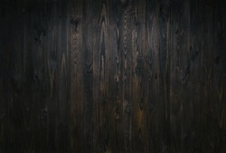 Rustic reclaimed palette wood background texture. Dark timber planks DIY wall. Empty space, room for text.