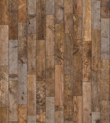 Rustic seamless wood texture. Vintage naturally weathered hardwood vertical planks seamless wooden floor background, sharp and highly detailed.