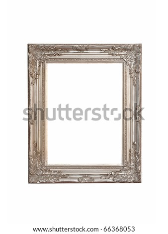 Rustic silver frame isolated included clipping path