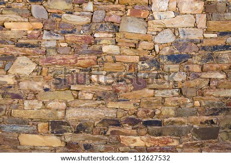 Rustic Wall in a Old Construction - stock photo