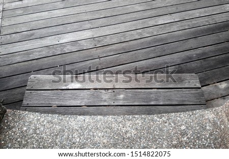 Rustic weathered slim boardwalk planks