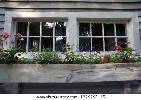 Photo of  Rustic windowbox with flowers