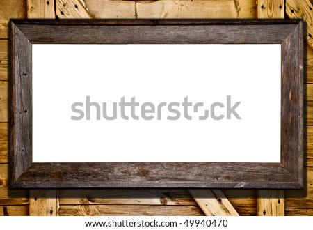 Rustic Wood Frame Vector Rustic Wood Frame Against Barn