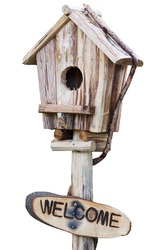 Rustic Wooden Bird House