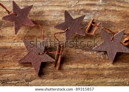 rustic wooden christmas star decoration