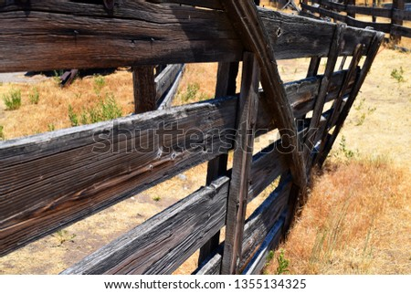 Rustic Wooden Fence  #1355134325
