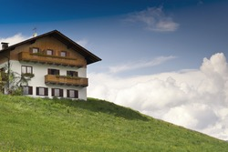 Rustical wooden House on a Hill in Tyrol, Austria