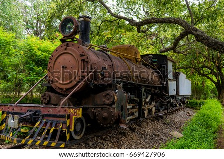 Rusting Steam Train in Bangalore
