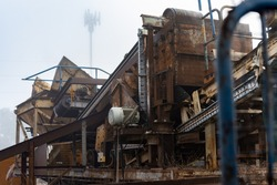 Rusty and decommission Industrial machine