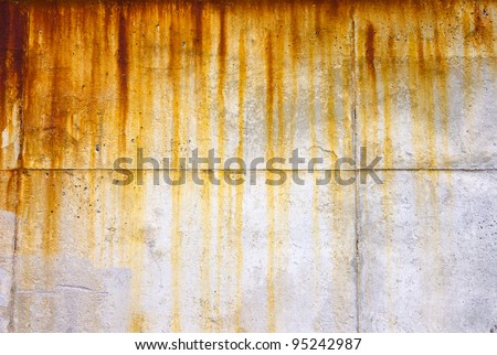 Rusty and grungy dripping texture background