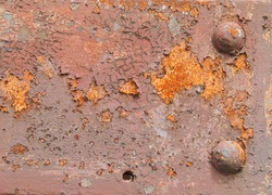 rusty background with rivets