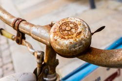 Rusty bell on the bicycle