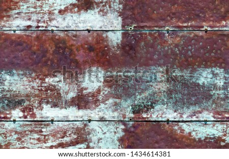 Rusty blue brown iron seamless background seamless background #1434614381