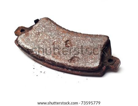 Rusty car brake pad