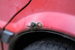 rusty car close up