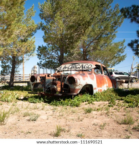 Rusty car on route 66