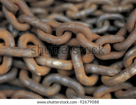 Rusty chain texture