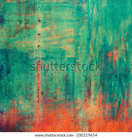 Rusty Colored Metal with cracked paint, grunge background