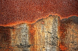 Rusty colored sheet.