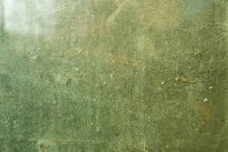 rusty glass green background