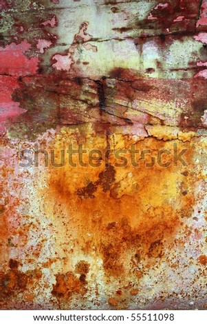rusty grunge aged steel iron paint oxidized texture background
