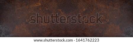 Rusty grunge dark metal texture background banner panorama Stockfoto ©