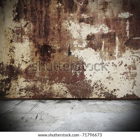 rusty grunge interior