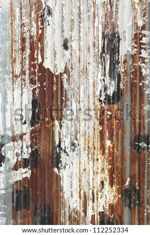 rusty grunge zinc plate