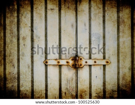 Rusty hinge background