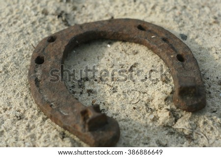 Free Photos Rusty Horseshoe On A Sand Background Rustic Scene In A