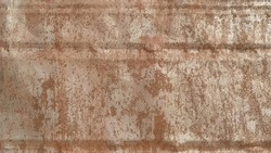 Rusty iron or alloy with special gloss, ductility, good thermal conductivity and electrical conductivity. Corrosion of metal. Metal fence or scrap metal. Brown and red rust. Recovery.