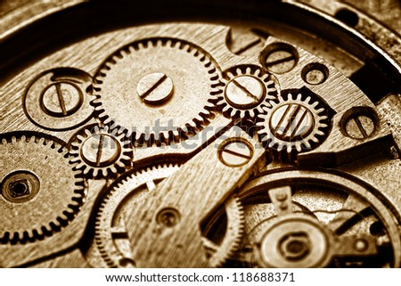 rusty mechanism in the old clock