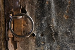 Rusty metal and old wooden backgrounds
