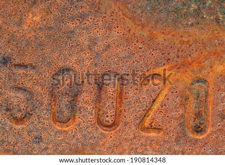 Rusty metal background #190814348