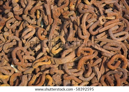 Rusty metal background. - stock photo