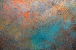 Rusty metal background. Color steel texture